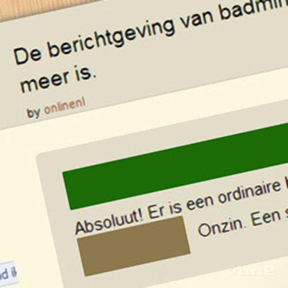 badmintonline.nl oorzaak exit Rob Ridder? - GoPollGo