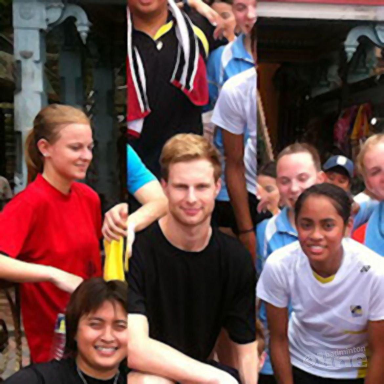 Jordy, Gayle en Elisa in Maleisië