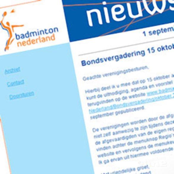 Bondsvergadering 15 oktober a.s. - Badminton Nederland