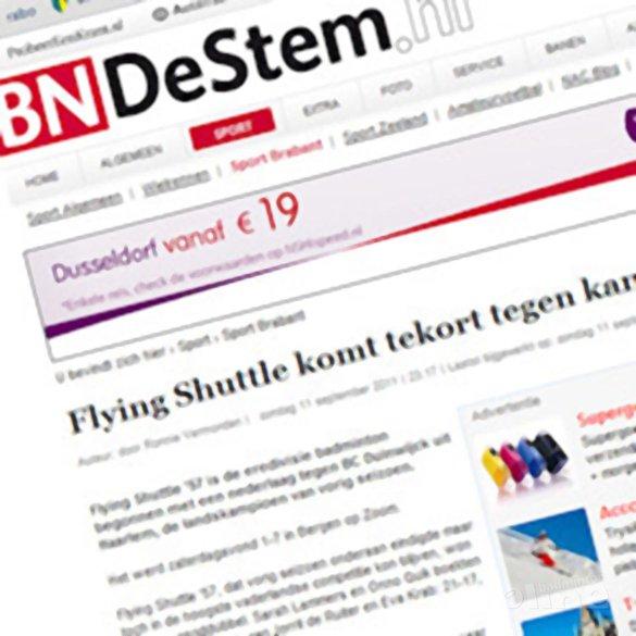 Flying Shuttle '57 komt tekort tegen kampioen - BN/DeStem
