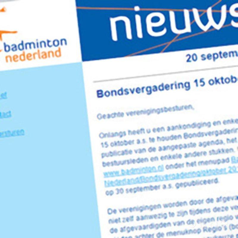 Bondsvergadering 15 oktober 2011 - Badminton Nederland