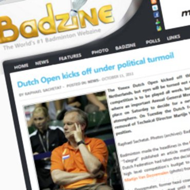 Badzine: 'Dutch Open kicks off under political turmoil'