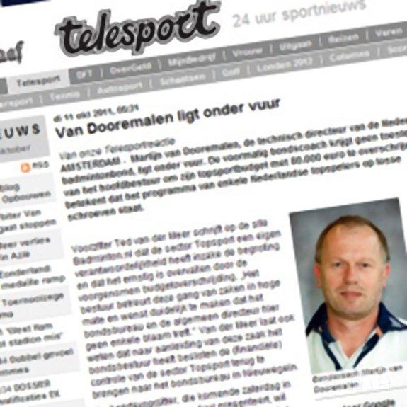 Deze afbeelding hoort bij 'Van Dooremalen ligt onder vuur' en is gemaakt door De Telegraaf