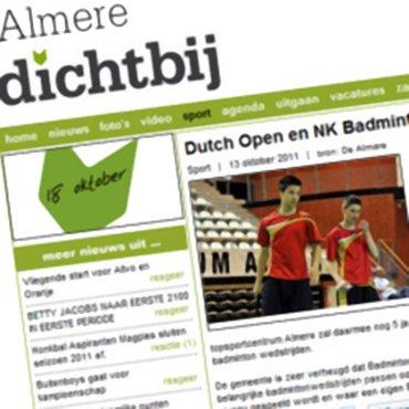 Dutch Open en NK Badminton langer in Almere