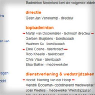 Nieuwjaarswens van Badminton Nederland