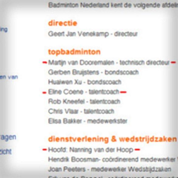 Nieuwjaarswens van Badminton Nederland - Badminton Nederland