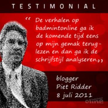 Blogger Piet Ridder vraagt zich af waarom er bij hem niemand meer reageert