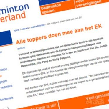 Alle badmintontoppers op EK in Amsterdam