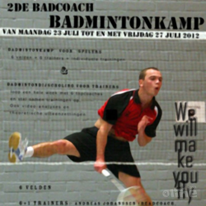 Tweede Badcoach badmintonkamp: 23 - 27 juli 2012 - Badcoach