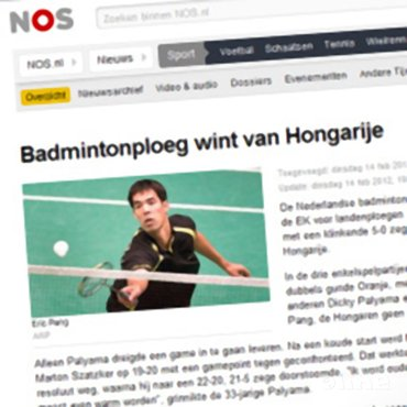 Badmintonploeg wint van Hongarije