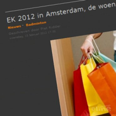 Blogger Piet Ridder teleurgesteld over EK Badminton Landenteams in Amsterdam