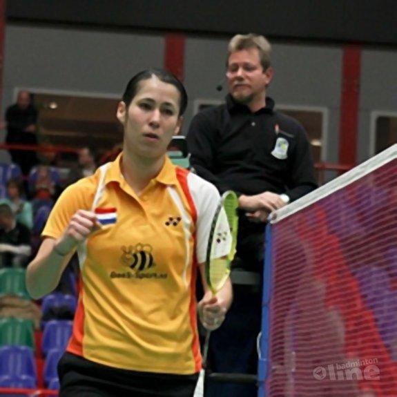 Deze afbeelding hoort bij 'Meulendijks leidt badmintonsters naar EK-brons' en is gemaakt door Alex van Zaanen
