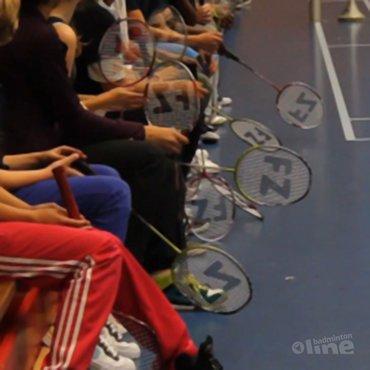 Scholentoernooi EK Badminton Amsterdam met Chris Bruil