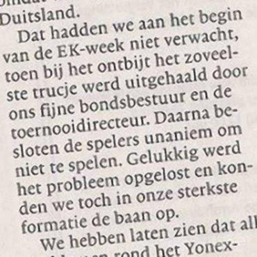 Koen Ridders 'FUCK YOU'-momentje naar Badminton Nederland