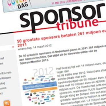 Sponsor Tribune: '50 grootste sponsors betalen 261 miljoen euro in 2011'