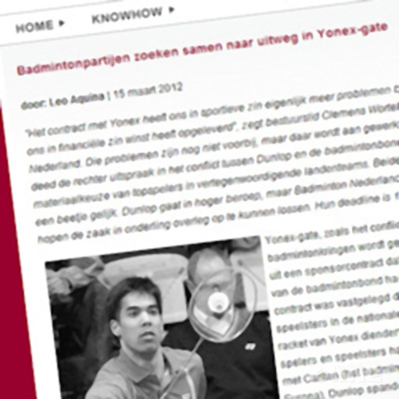 Sport Knowhow XL: 'Badmintonpartijen zoeken samen naar uitweg in Yonex-gate' - Sport KnowHow XL