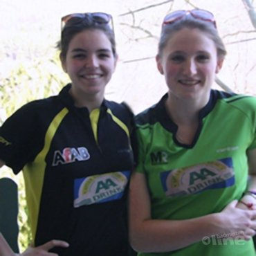 Kirsten en Romy op Hungarian Junior International
