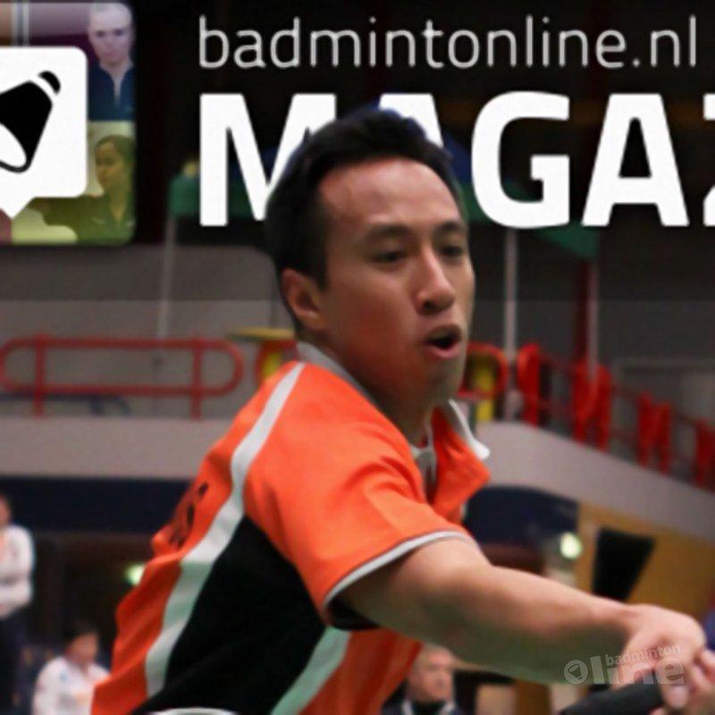 Dit is de cover van het allereerste badmintonline.nl MAGAZINE! - Alex van Zaanen