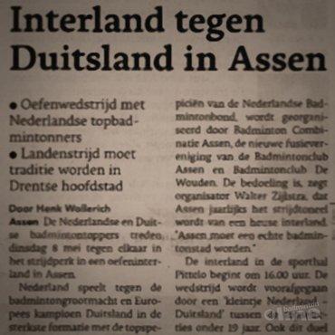Sportbond Badminton Nederland investeert fors bedrag in interland in Assen