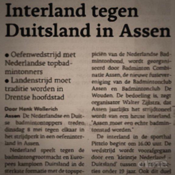 Sportbond Badminton Nederland investeert fors bedrag in interland in Assen - Dagblad van het Noorden