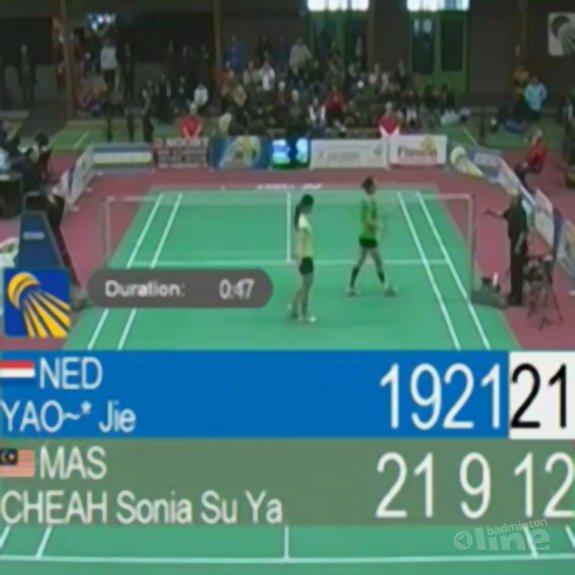 Deze afbeelding hoort bij 'Yao Jie zegeviert in finale van Dutch International in Wateringen' en is gemaakt door Badminton Europe