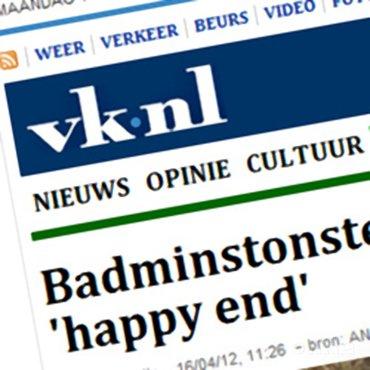 Volkskrant: Badmintonster Jonathans hoopt op olympisch 'happy end'