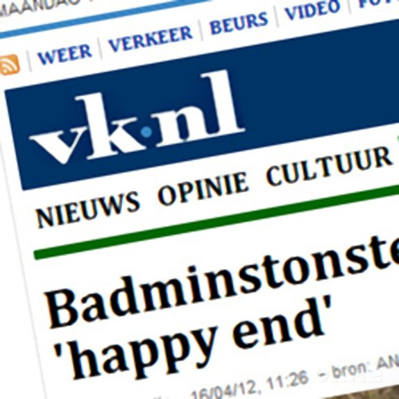 Deze afbeelding hoort bij 'Volkskrant: Badmintonster Jonathans hoopt op olympisch 'happy end'' en is gemaakt door René Lagerwaard