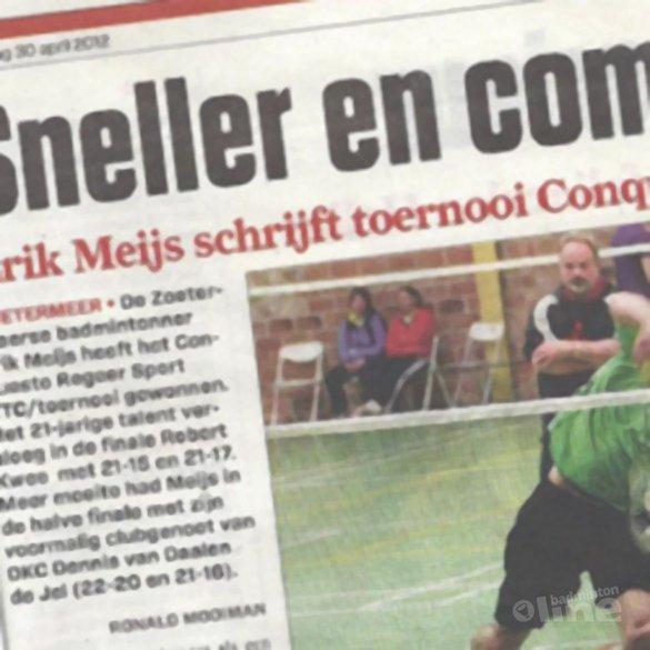 Sneller en completer: Erik Meijs schrijft toernooi Conquesto op zijn naam - AD
