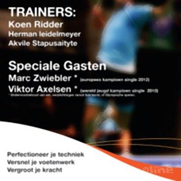 Viktor Axelsen deze zomer in Duinwijckhal voor Start Up trainingskamp van Koen Ridder