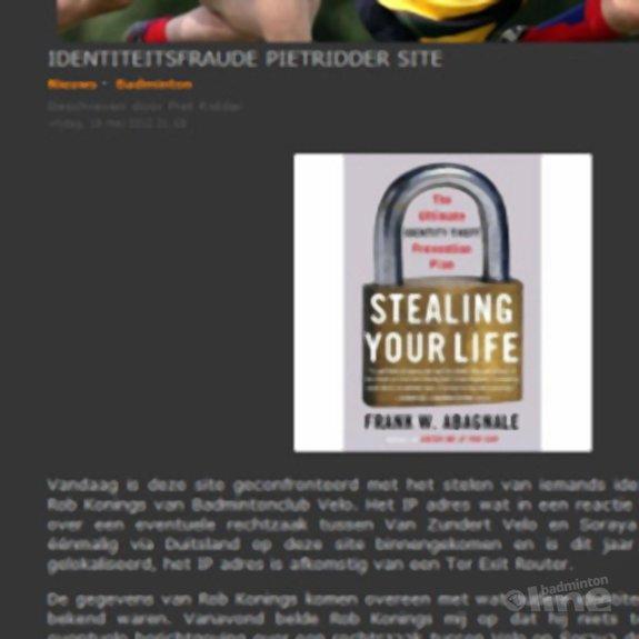 Deze afbeelding hoort bij 'Blogger en websiteowner Piet Ridder is finaal geLauraDamstraat' en is gemaakt door Piet Ridder