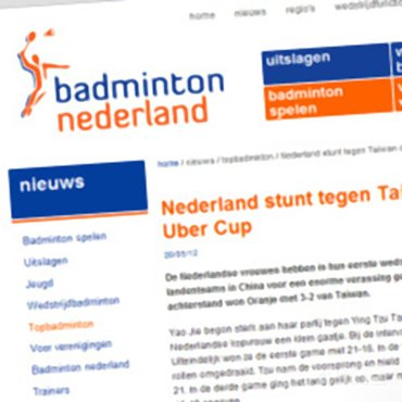 BNL: 'Nederland stunt tegen Taiwan op Uber Cup'