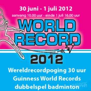 Roy, Pepijn, Dirk en Rick gaan voor wereldrecord dubbelspel badminton