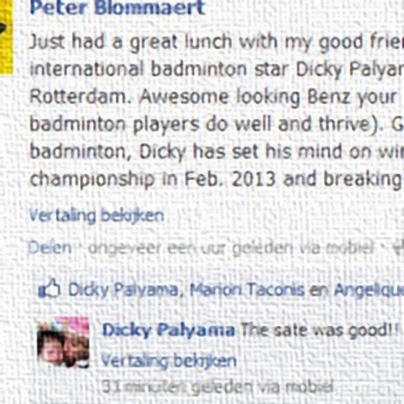 Dicky Palyama gunning for 10th National Championship in February 2013 - Facebook