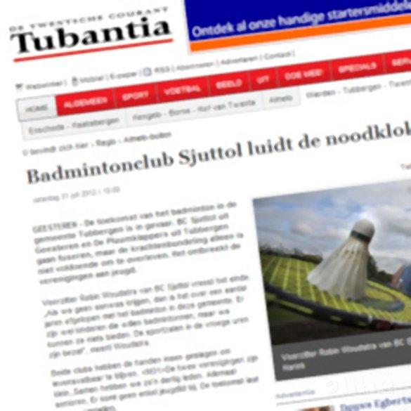 Badmintonclub Sjuttol luidt de noodklok - Tubantia