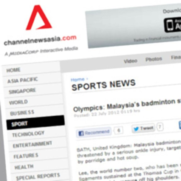 Olympics: Malaysia's badminton star Lee recovers on diet of porridge - channelnewsasia.com