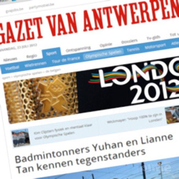 Badmintonners Yuhan en Lianne Tan kennen tegenstanders - Gazet van Antwerpen