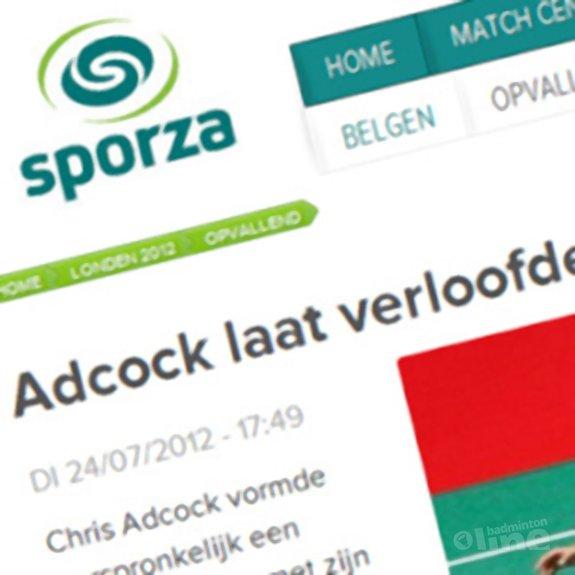 Deze afbeelding hoort bij 'Adcock laat verloofde vallen voor medaille' en is gemaakt door Sporza