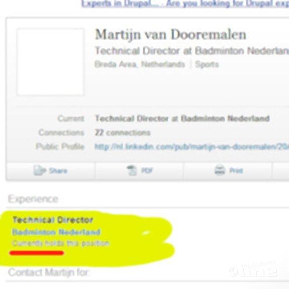 Martijn van Dooremalen opnieuw technisch directeur van Badminton Nederland? - LinkedIN