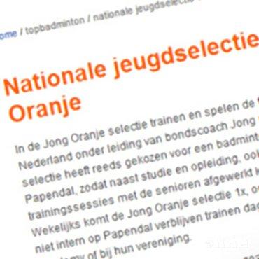 Nieuwe nationale jeugdselecties gepubliceerd