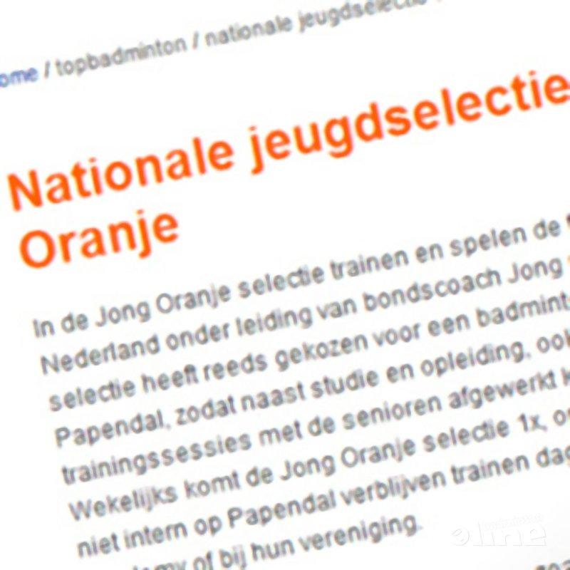 Nieuwe nationale jeugdselecties gepubliceerd - Badminton Nederland