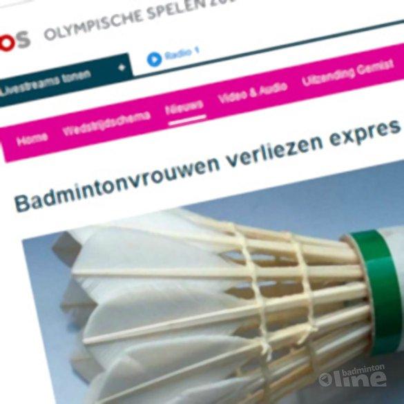 Badmintonvrouwen verliezen expres - NOS