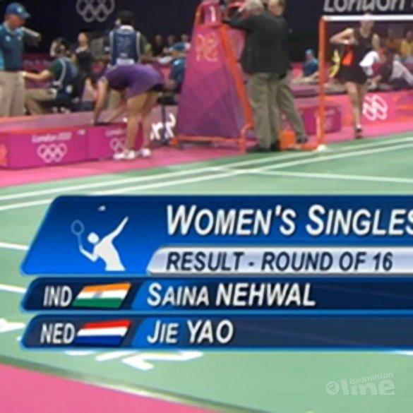 Yao Jie strandt in achtste finales op Spelen - NOS / LOC