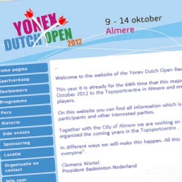 Nieuwe website Dutch Open 2012 online