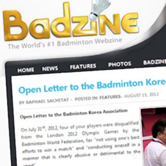 Deze afbeelding hoort bij 'Open Letter to Korean Badminton Association' en is gemaakt door Badzine