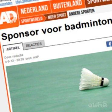 AD: 'Sponsor voor badmintonbond'