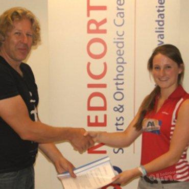 Kirsten van der Valk: 'Medicort sponsort Team van der Valk'