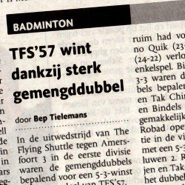 TFS'57 wint dankzij sterk gemengddubbel