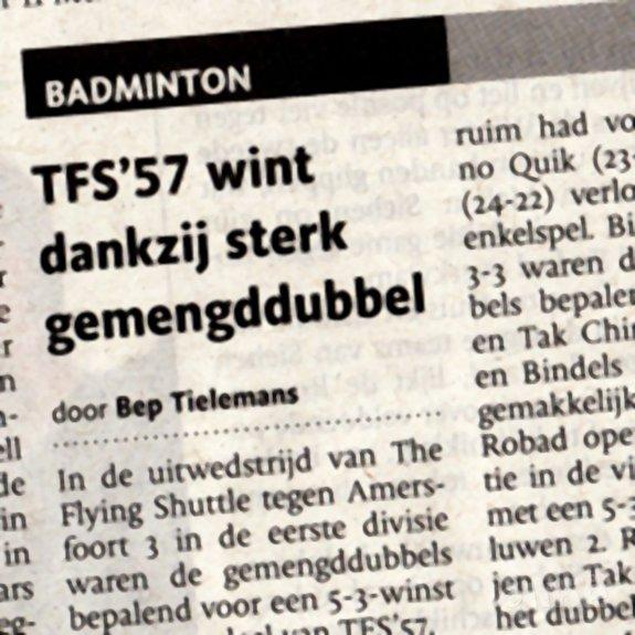 TFS'57 wint dankzij sterk gemengddubbel - BN/DeStem