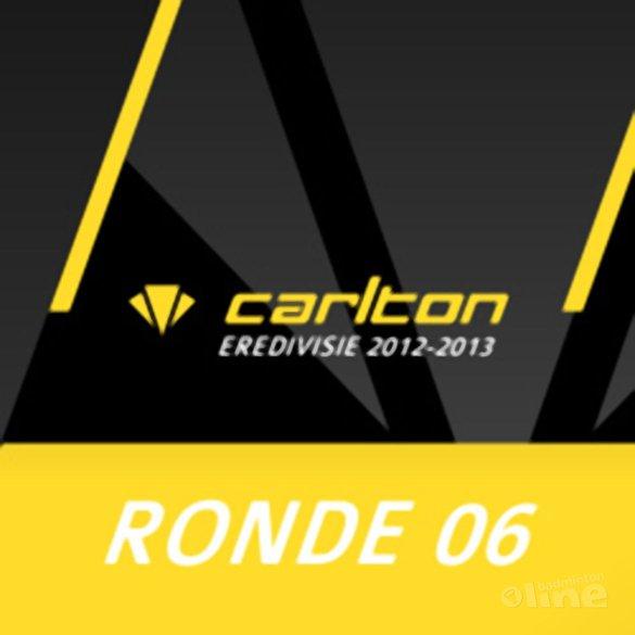 Carlton Eredivisie 2012-2013 - speelronde 6 - badmintonline.nl