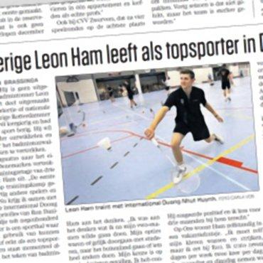 Leergierige Leon Ham leeft als topsporter in Denemarken